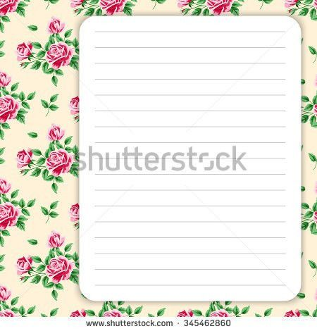 Vector Printing Paper Note Cute Paper Stock Vector 543803704 ...