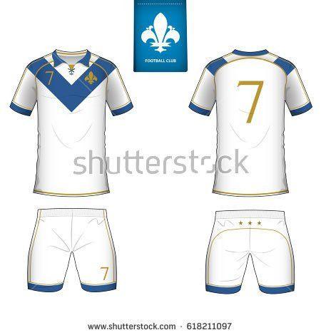 Set Soccer Jersey Football Kit Template Stock Vector 589532906 ...