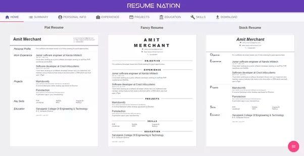 best online resume builder