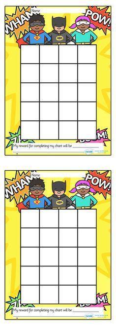 Free sticker reward chart printouts. A few options available ...
