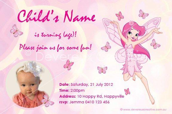 1st Birthday Invitations Girl Template Free - iidaemilia.Com