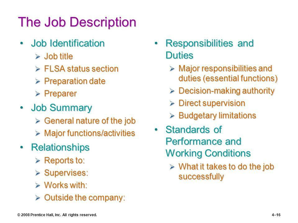 Job Analysis Chapter 4 Part 2 | Recruitment and Placement - ppt ...