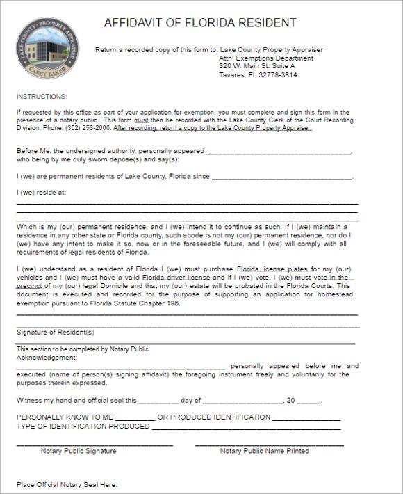 Affidavit Form Templates || Free & premium Templates | Creative ...