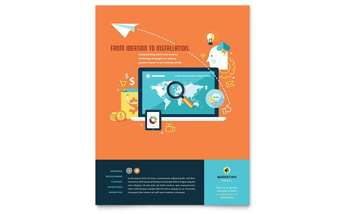 Advertising Company Flyer Template Design