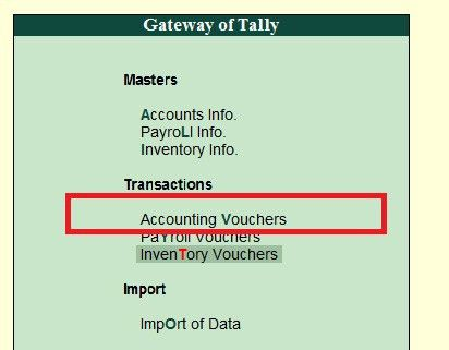 How to Create a Voucher Type in Tally ERP 9