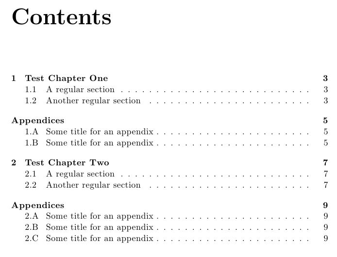 appendices - Appendix after each chapter - TeX - LaTeX Stack Exchange