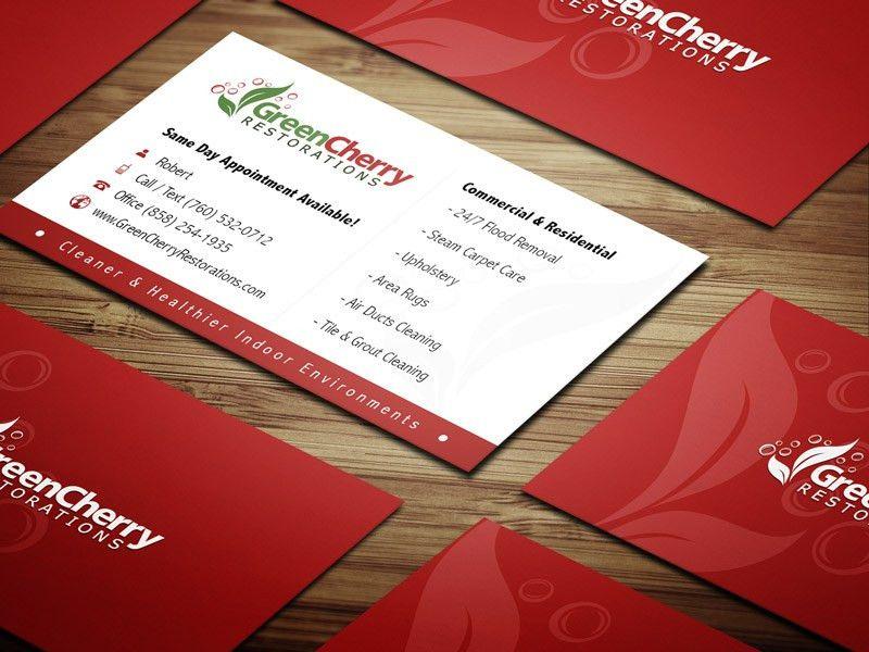 Green Cherry Restorations Business Cards - TYPESTYLES.NET - San ...