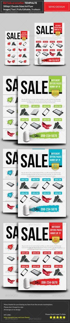 Big Sale Product Flyer Bundle Template PSD | Buy and Download ...