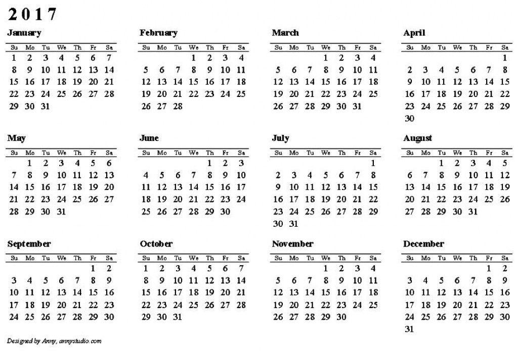 Printable Calendar Sample. Free Printable Calendar 2017 Calendar ...