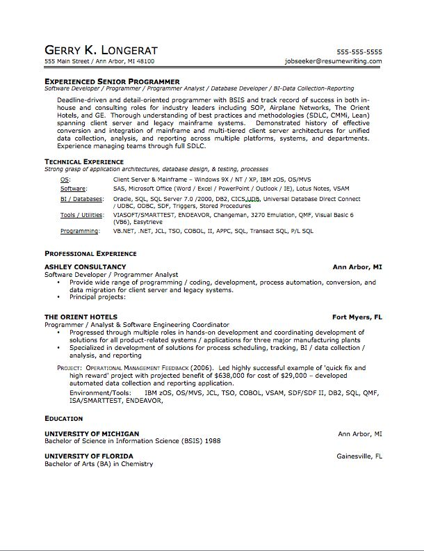 How A Resume Should Look 1 What Like - uxhandy.com