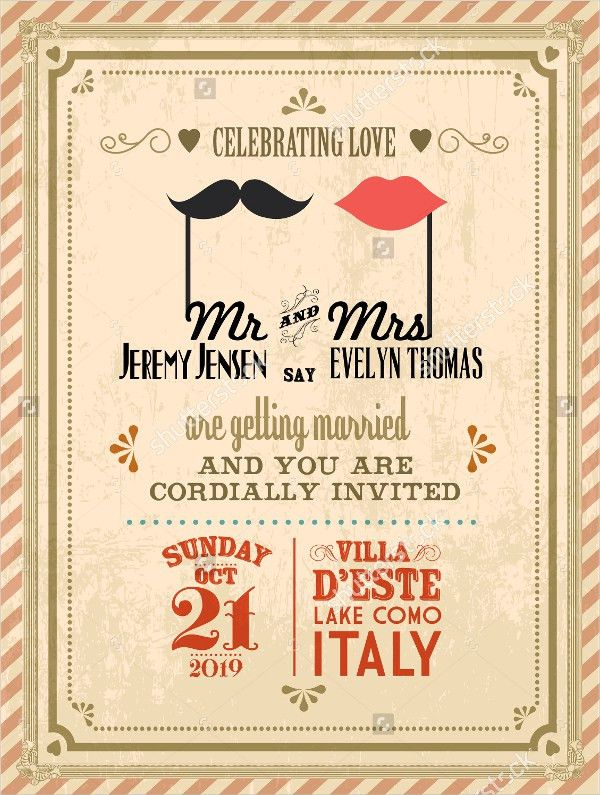 18+ Vintage Wedding Invitations - Free PSD, Vector AI, EPS Format ...