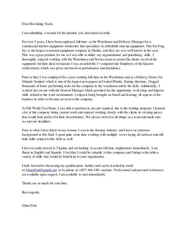Omar Font Cover Letter 2015