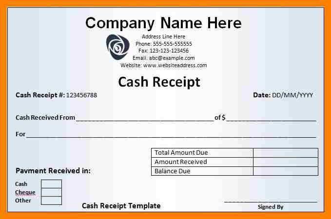 10+ cash receipt template word doc | packaging clerks