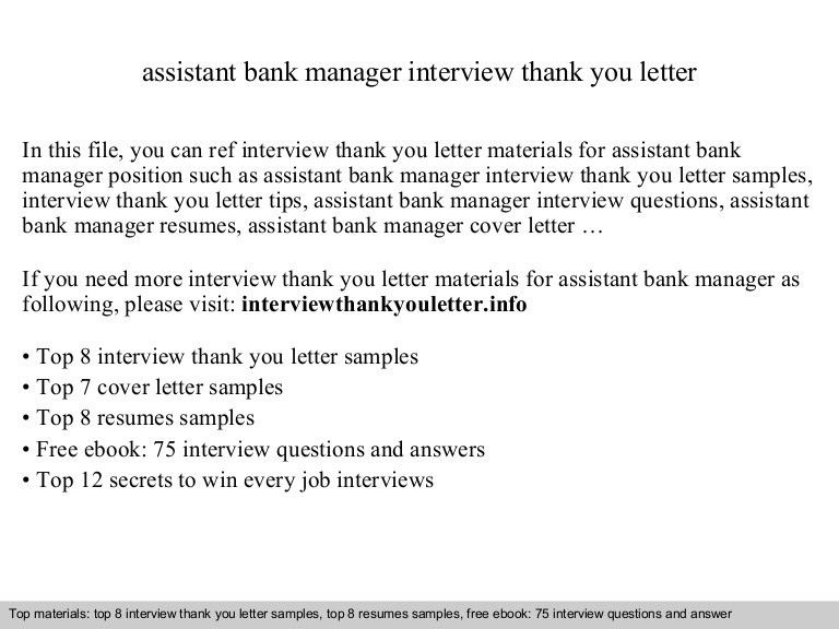 Assistant bank manager