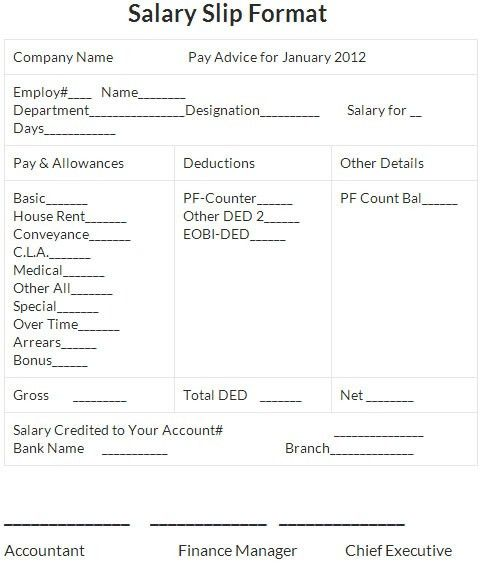 Sample of Salary Slip in Excel Format - Microsoft Project ...