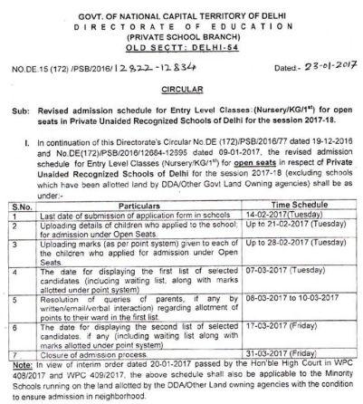 www.edudel.nic.in EWS DG Nursery Admission 2017,Application Form ...