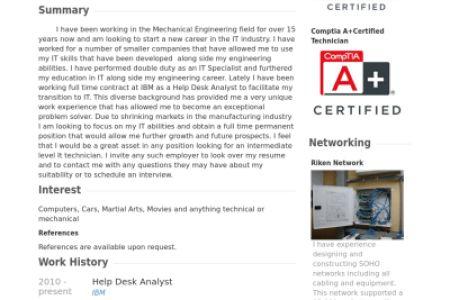 Help Desk Analyst Resume samples VisualCV resume samples database ...