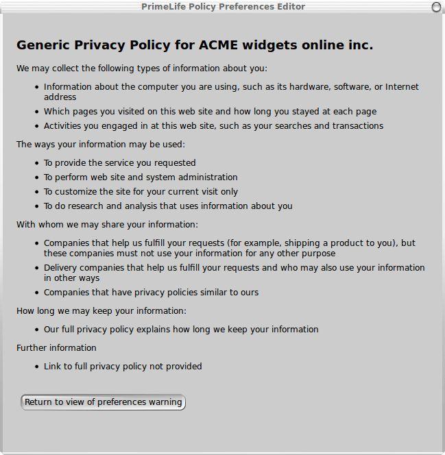 Machine Interpretable Privacy Policies -- A fresh take on P3P