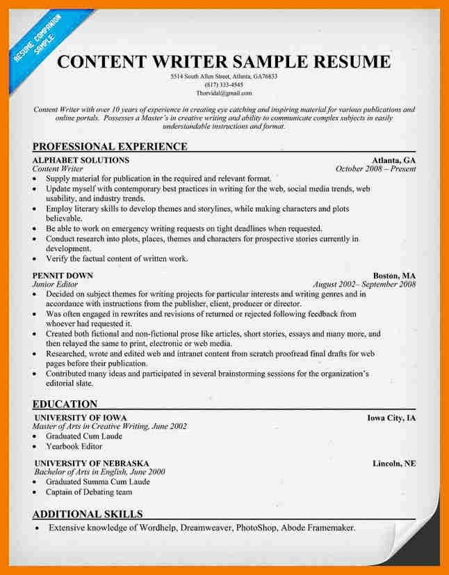 writing sample resume writing resume sample writer resume example