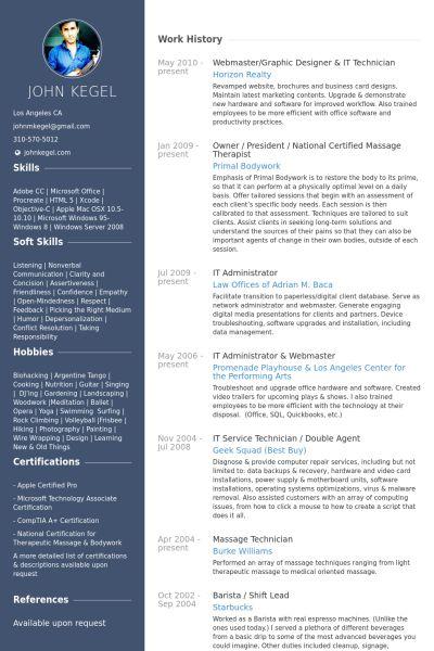 It Technician Resume samples - VisualCV resume samples database