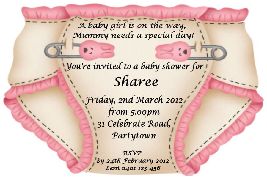 baby shower sample invitation baby shower invitation sample - Baby ...