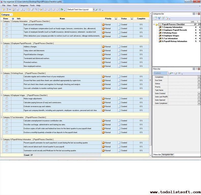 Finance Management Checklists - To Do List, Organizer, Checklist ...