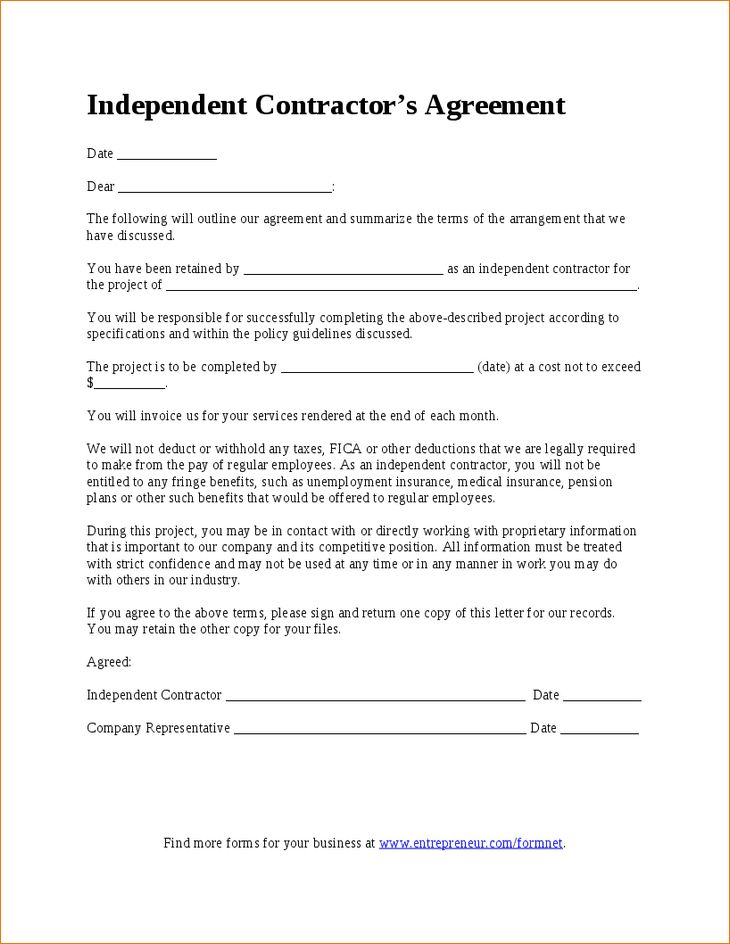 7+ Simple Contractor Agreement | Timeline Template