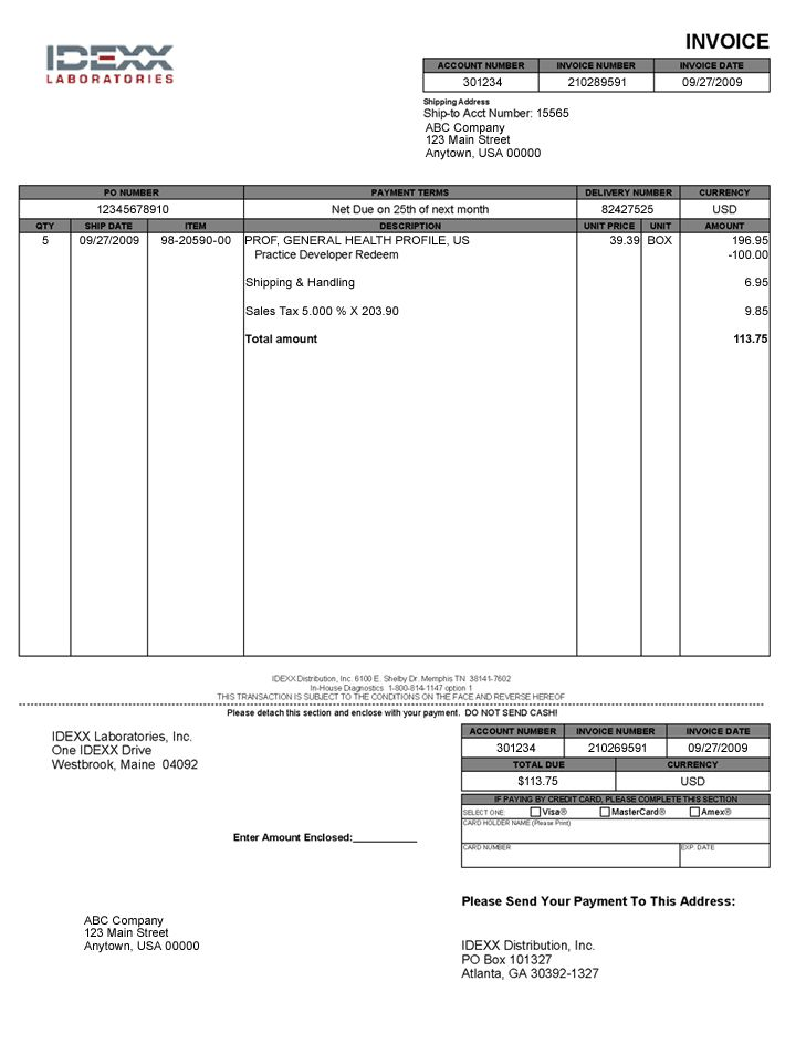 Download Us Invoice Template | rabitah.net