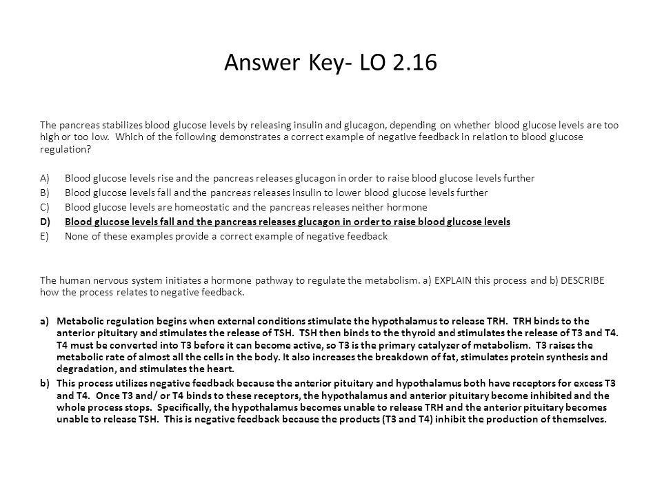 Answer Key- LO 2.3 Which of the following best explains why energy ...