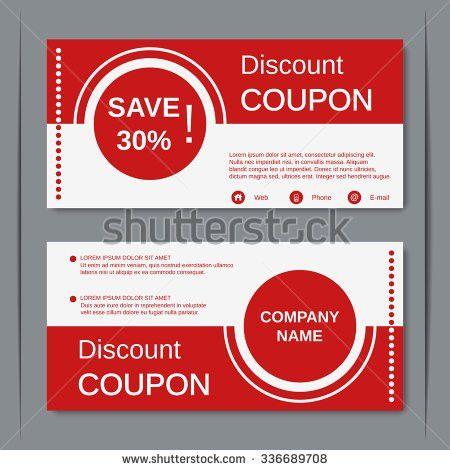 Discount Coupon Gift Voucher Gift Certificate Stock Vector ...