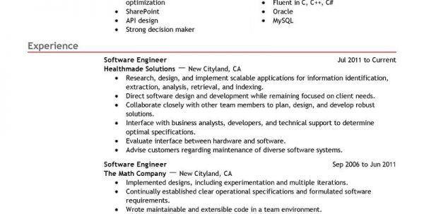 Software Developer Fresher Resume Sample Security Guard Resume ...