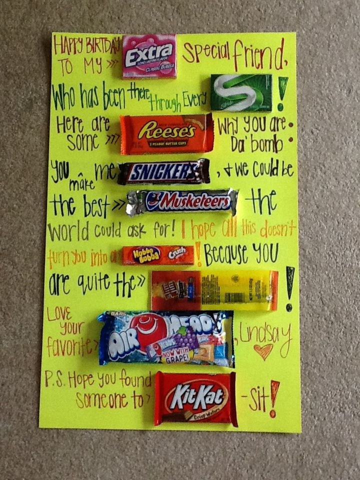 Candy gram Birthday card for boyfriend | cool ideas ...