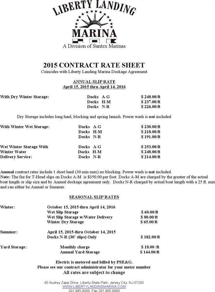 Rate Sheet Templates | Download Free & Premium Templates, Forms ...