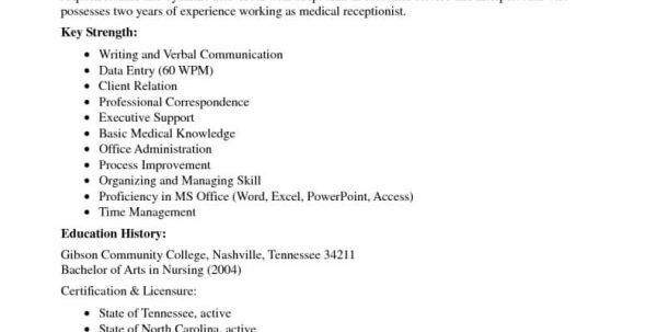 Medical Reception Resume Objective. what should i include on a ...