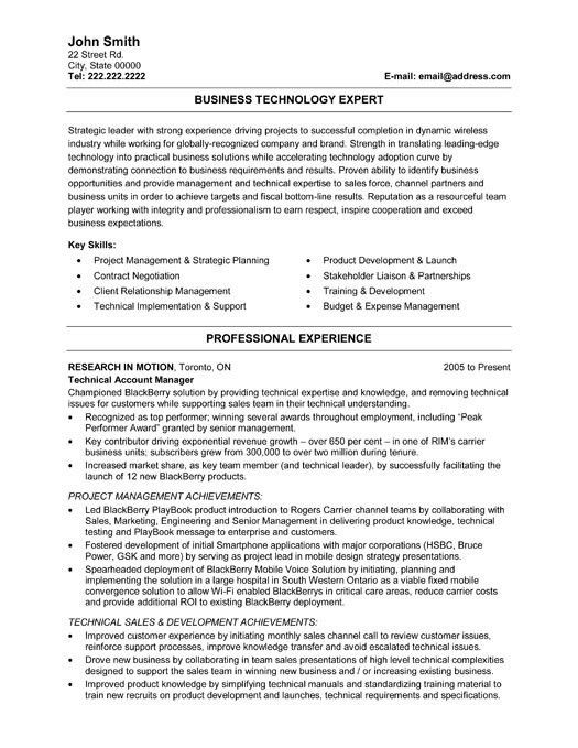 Information Technology Resume Template | free excel templates