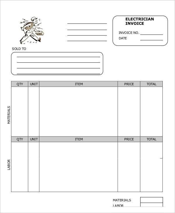 9 Work Invoice Template - Free Sample, Example Format Download ...