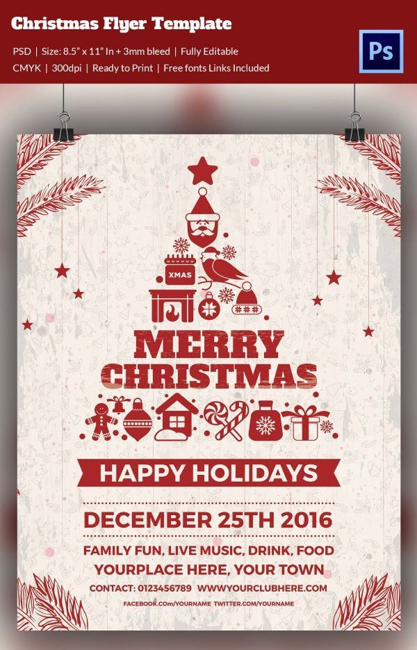 Christmas Flyer Template Free Word 2017   Best Template Examples