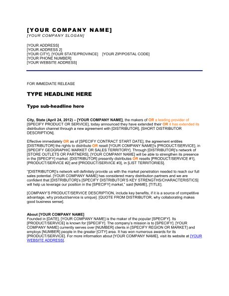 Press Release New Website   Template U0026 Sample Form | Biztree.com