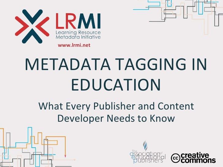 Metadata Tagging in Education—What Every Publisher and Content Develo…