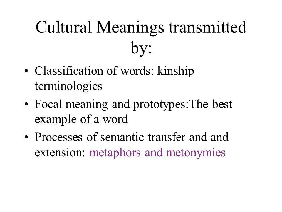 EXTENDED AND TRANSFERRED MEANING :Metaphor and Metonymy - ppt ...
