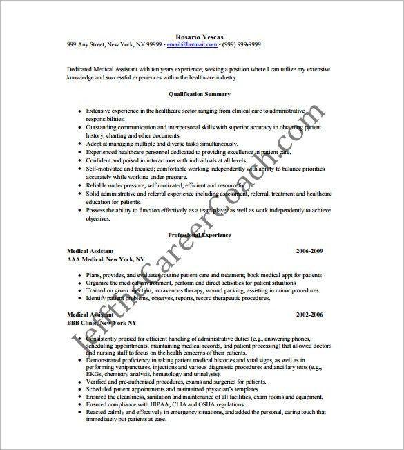 objectives for medical assistant medical assistant resume sample
