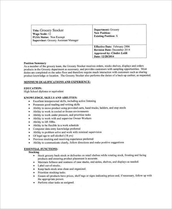 Awesome Floor Supervisor Job Description Retail U2013 Meze Blog
