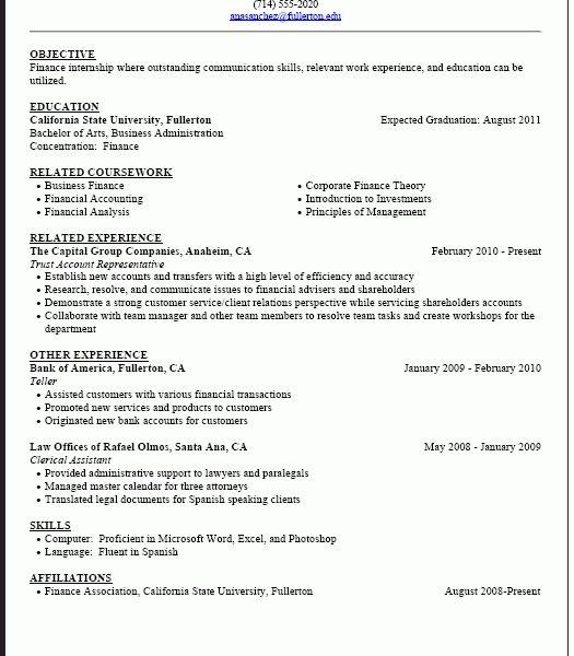 Phenomenal Sample Student Resume 11 Career Center - CV Resume Ideas