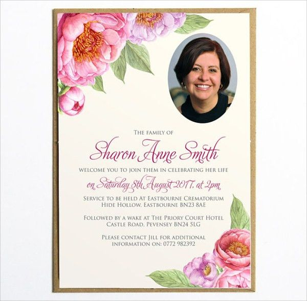Memorial Invitation Templates Free | futureclim.info