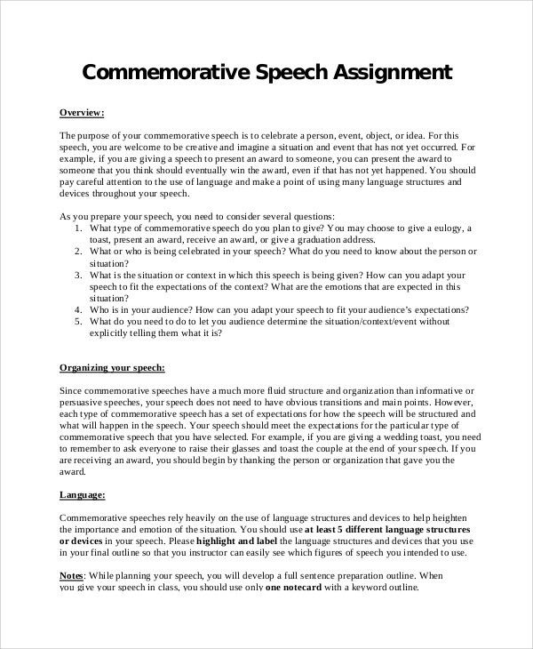 Ceremonial Speech Example Template. Salutatorian Speech Examples .