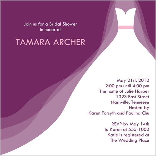Bridal Shower Invitations Free - cloveranddot.Com