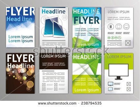 Vector Set Flyers Templates Brochures A4 Stock Vector 239600164 ...