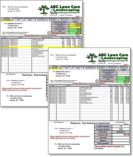 Landscaping Invoice Software - Best Resume Collection