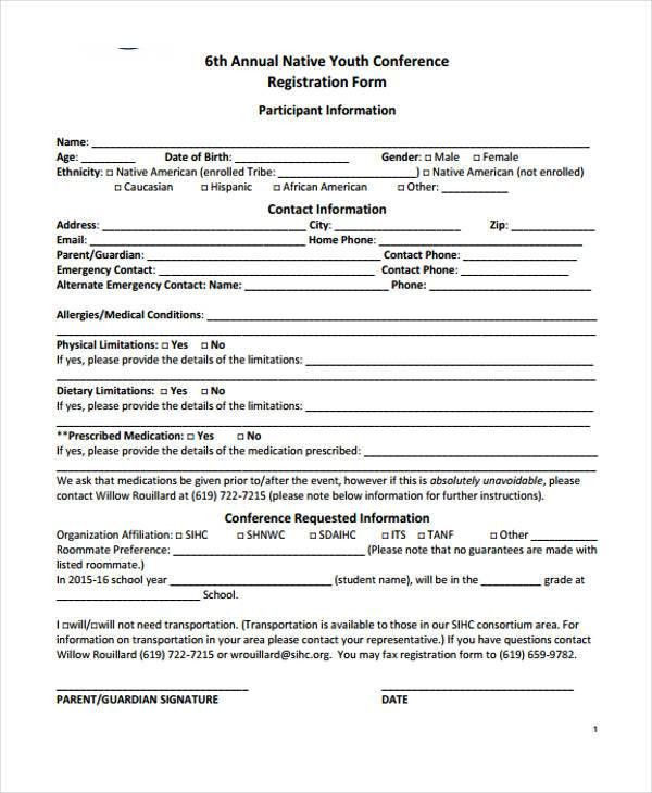 School Registration Form Template Registration Form Template 9 – Student Registration Form Template