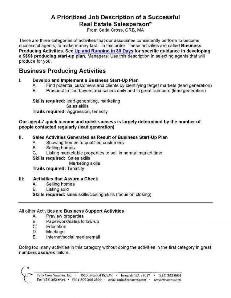 Realtor Description For Linkedin Real Estate Agent Job Description ...